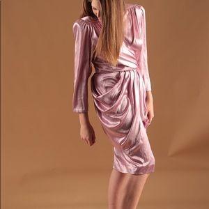 Metallic refurbished vintage 80s dress